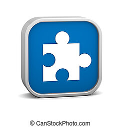 blu scuro, puzzle, segno