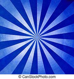 blu, scuro, raggi, fondo, struttura
