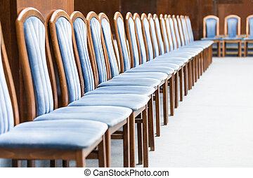 blu, sedie, fila, lussuoso