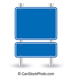 blu, segno strada