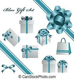 blu, set, regalo