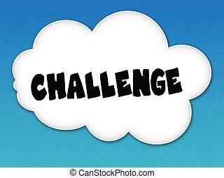 blu, sfida, cielo, fondo., messaggio, nube bianca
