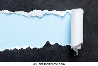 blu, sfondo nero, copyspace