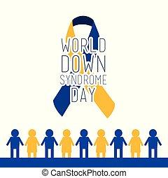 blu, sindrome, giallo, giù, mondo, giorno, cappio