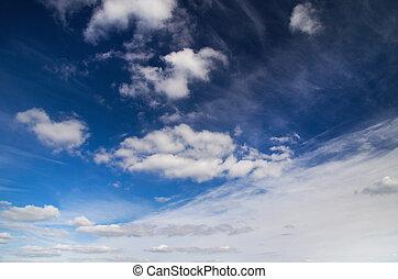 blu, sky.
