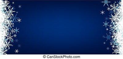 blu, snowflakes., bandiera, inverno