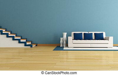 blu, soggiorno