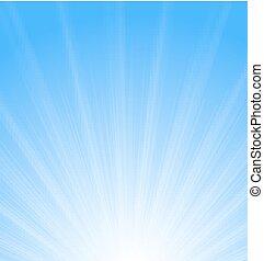 blu, sole, astratto, sunburst, fondo