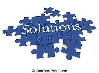 blu, soluzioni, puzzle