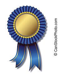 blu, sopra, bianco, premio