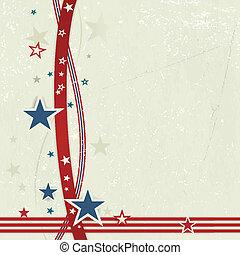 blu, spento, stati uniti, white., fondo, patriottico, rosso
