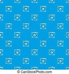 blu, spiegazzato, modello, seamless, borsa, patatine fritte