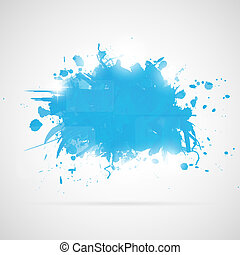 blu, splashes., astratto, fondo, vernice