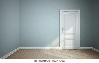 blu, stanza