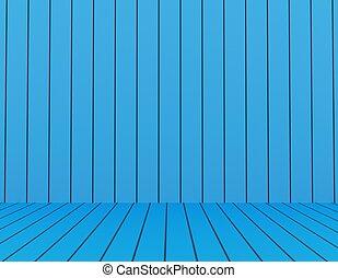 blu, stanza, rendering., color., vuoto, 3d