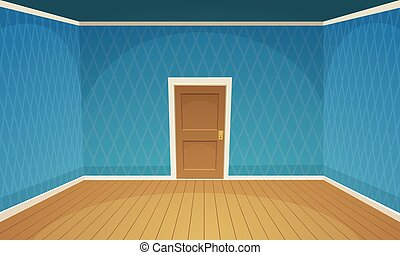 blu, stanza, vuoto, /