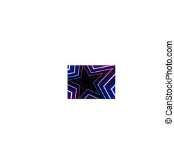 blu, stelle, astratto, neon, ardendo, ultravioletto, fondo