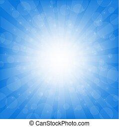 blu, sunburst, fondo