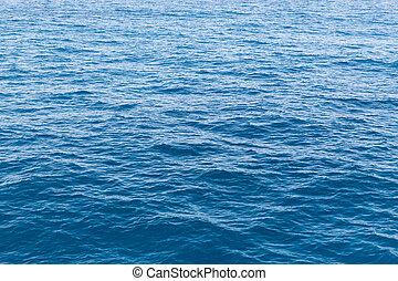 blu, superficie, oceano, acqua, mare, o