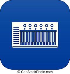 blu, synth, digitale, elettronico, icona