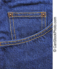 blu, tasca, jeans, fondo