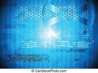 blu, tecnologia, moderno, disegno