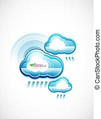 blu, tecnologia, nuvola