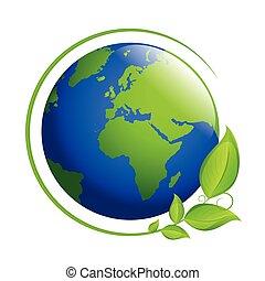 blu, terra, foglie, verde