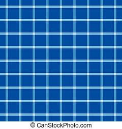 blu, tessuto plaid, modello, seamless, assegno
