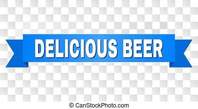 blu, testo, birra, striscia, delizioso