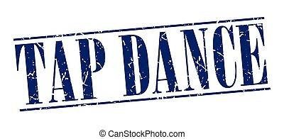 blu, tip-tap, vendemmia, isolato, francobollo, fondo, grunge, bianco