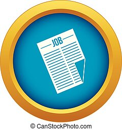 blu, titolo, isolato, lavoro, vettore, giornale, icona