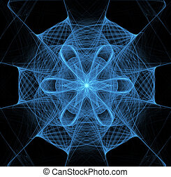 blu, tovagliolo, illustrazione, fondo, merletto, fractal