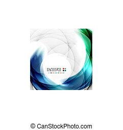 blu, turbine, disegno astratto
