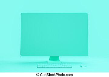 blu, tutto, concetto, fondo., astratto, materiale, interpretazione, singolo, computer, vuoto, minimo, 3d
