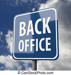 blu, ufficio, indietro, segno, parole, strada