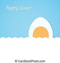 blu, uovo di pasqua, fondo