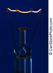 blu, urente, luce, vetro, luminoso, fondo, dritto, bulbo, ...