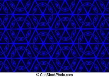 blu, vedere, tutto, occhio, dio, -