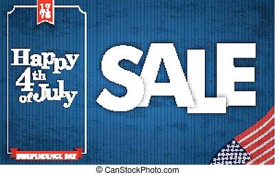 blu, vendemmia, cornice, vendita, 4, luglio, felice