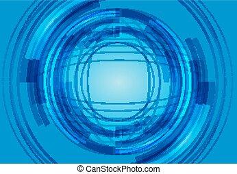 blu, vettore, ciao-tecnologia, fondo