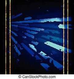 blu, vettore, jeans, struttura, illustrazione