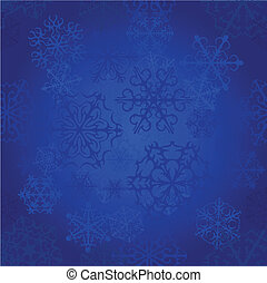 blu, vettore, neve, fondo, seamless