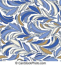 blu, vettore, penne, seamless, struttura