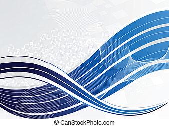 blu, vettore, tecnologia, fondo