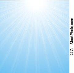 blu, vibrante, astratto, sunburst, fondo