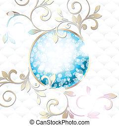 blu, vibrante, bianco, emblema