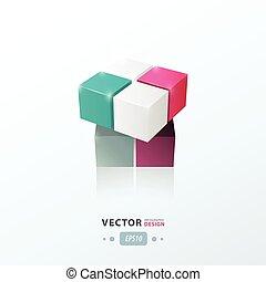 blu, viola, giocattolo, rosa, grigio, colorare, gioco, cubo,...