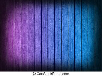 blu, viola, struttura, legno, fondo, pannelli
