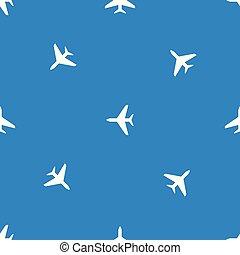 blu, volare, pattern., seamless, fondo., aereo, aeroplano